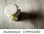 top view of small jar covered... | Shutterstock . vector #1199413282