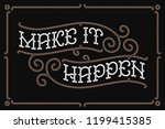 classic poster with lettering... | Shutterstock .eps vector #1199415385