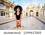 portrait of a young woman... | Shutterstock . vector #1199417005