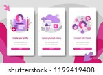 onboarding screen page template ... | Shutterstock .eps vector #1199419408