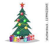 christmas tree vector. isolated ... | Shutterstock .eps vector #1199422045