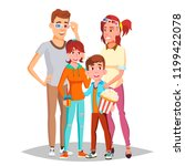 family in cinema movie vector.... | Shutterstock .eps vector #1199422078