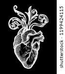 decorative naturalistic heart...   Shutterstock .eps vector #1199424115