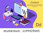 isometric concept creative... | Shutterstock .eps vector #1199425045