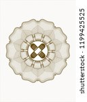 brown money style rosette with... | Shutterstock .eps vector #1199425525