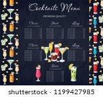 bar menu design. template for... | Shutterstock .eps vector #1199427985