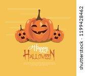 happy halloween vector... | Shutterstock .eps vector #1199428462