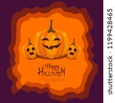 happy halloween vector... | Shutterstock .eps vector #1199428465