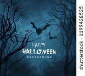 happy halloween vector... | Shutterstock .eps vector #1199428525