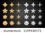 set of realistic metallic... | Shutterstock .eps vector #1199430172