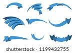 set of blue ribbon banners for... | Shutterstock .eps vector #1199432755
