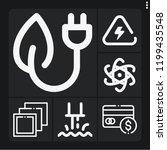 set of 6 technology outline... | Shutterstock .eps vector #1199435548