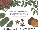 marry christmas and happy new... | Shutterstock .eps vector #1199441242