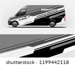 company branding van decal wrap ... | Shutterstock .eps vector #1199442118