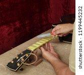 musical instrument guitar... | Shutterstock . vector #1199445232