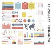 set of business infograph... | Shutterstock .eps vector #1199452495