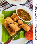 thai food with wrapped dough | Shutterstock . vector #1199455042
