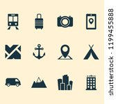 traveling icons set with hotel  ... | Shutterstock .eps vector #1199455888