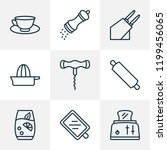gastronomy icons line style set ... | Shutterstock .eps vector #1199456065