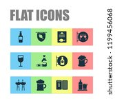 alcohol icons set with beer ... | Shutterstock .eps vector #1199456068