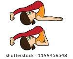 illustration cartoon girl doing ... | Shutterstock .eps vector #1199456548