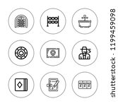 poker icon set. collection of 9 ... | Shutterstock .eps vector #1199459098