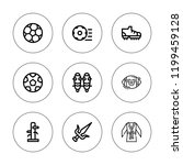 kick icon set. collection of 9... | Shutterstock .eps vector #1199459128