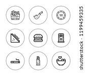unhealthy icon set. collection... | Shutterstock .eps vector #1199459335