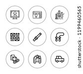 concept icon set. collection of ... | Shutterstock .eps vector #1199460565