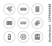 entry icon set. collection of 9 ... | Shutterstock .eps vector #1199460688