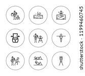 dumbbells icon set. collection... | Shutterstock .eps vector #1199460745