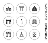 heritage icon set. collection... | Shutterstock .eps vector #1199462098