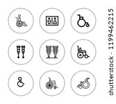 handicap icon set. collection... | Shutterstock .eps vector #1199462215