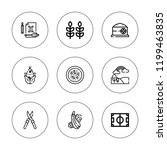 crop icon set. collection of 9... | Shutterstock .eps vector #1199463835