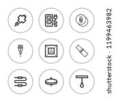 cord icon set. collection of 9... | Shutterstock .eps vector #1199463982