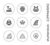 robot icon set. collection of 9 ... | Shutterstock .eps vector #1199464042