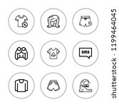 short icon set. collection of 9 ...