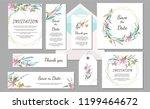 set wedding invitation vintage... | Shutterstock .eps vector #1199464672