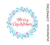 merry christmas and happy new... | Shutterstock .eps vector #1199467342