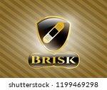 shiny emblem with bandage... | Shutterstock .eps vector #1199469298