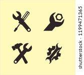 spanner icon. spanner vector...   Shutterstock .eps vector #1199471365