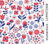floral seamless vector... | Shutterstock .eps vector #1199472508