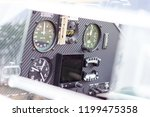 instrument panel on the sport... | Shutterstock . vector #1199475358