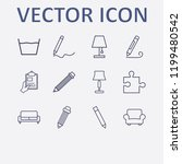 outline 12 simple icon set.... | Shutterstock .eps vector #1199480542