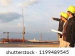 civil engineer on site  | Shutterstock . vector #1199489545
