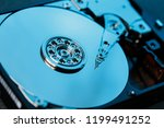 disassembled hard drive from... | Shutterstock . vector #1199491252