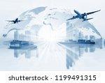 transportation  import export... | Shutterstock . vector #1199491315