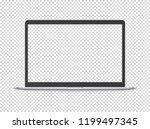 modern laptop vector mockup....