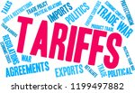 tariffs word cloud on a white... | Shutterstock .eps vector #1199497882