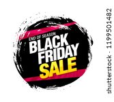black friday sale banner layout ... | Shutterstock .eps vector #1199501482